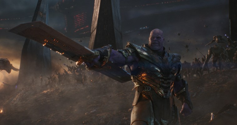 Thanos leads his army to battle