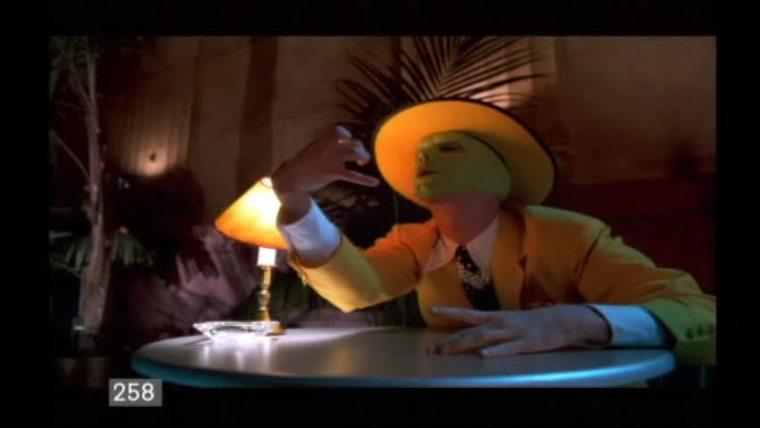 Carrey performing the scene