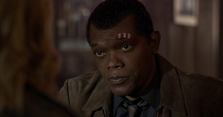 A young Nick Fury in 'Captain Marvel.