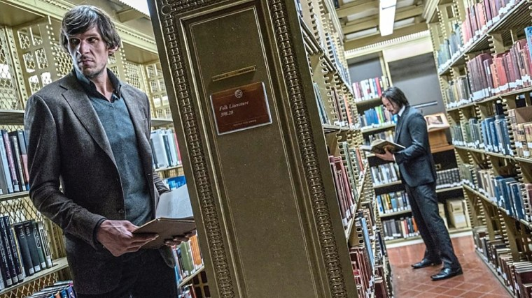 John Wick in the library