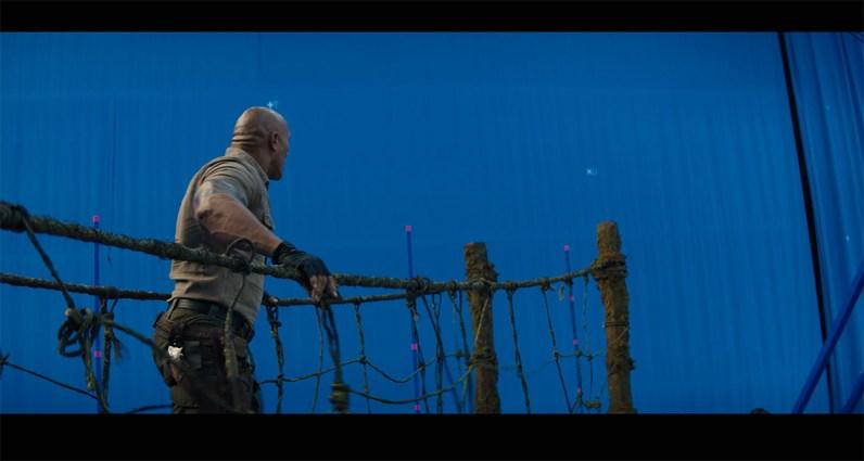 Jumanji VFX shot