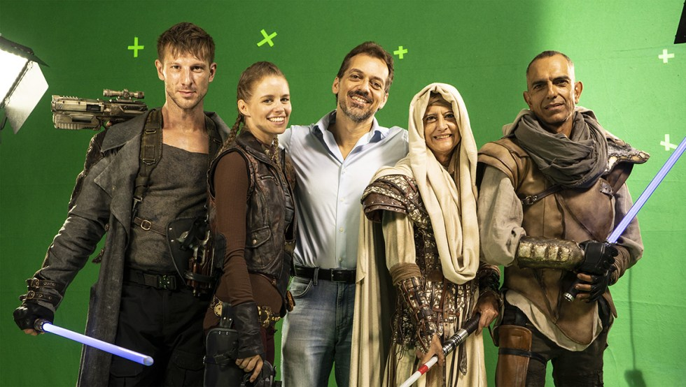 On the set of 'Keepers of the Force.'
