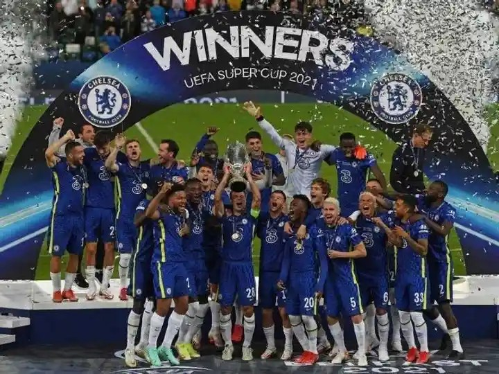 Chelsea win the European Super Cup for the second time in its history