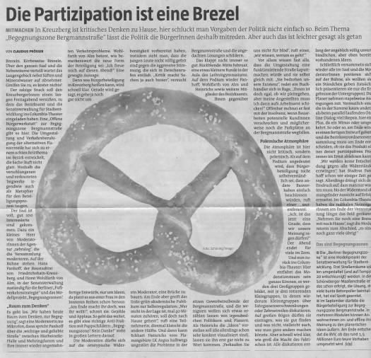 BegegnungBergmann 16101 - Presseinfo taz 7. März 2016 Seite 21 _ff_ff