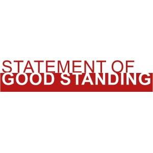 Statement of Good Standing