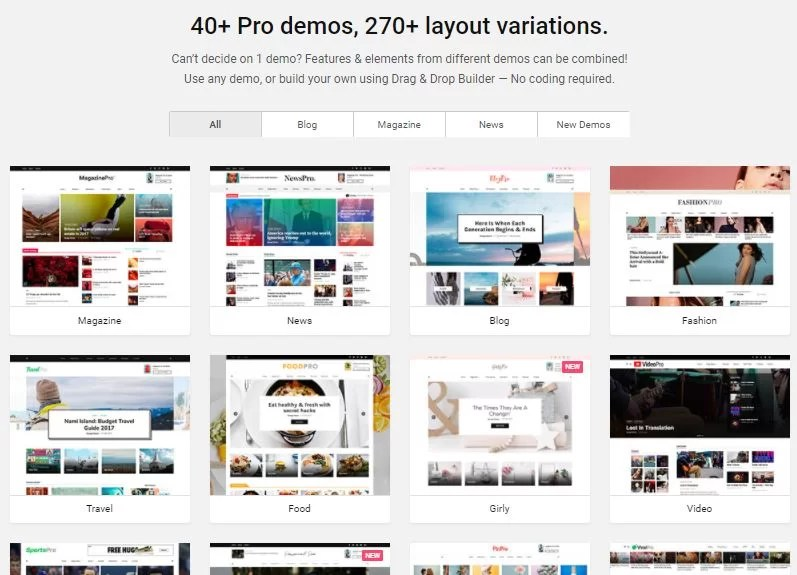 Pinterest Style WordPress theme