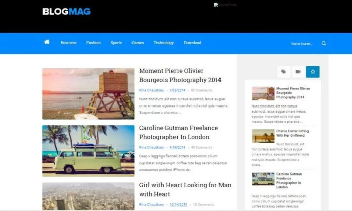 Blogmag Blogspot Template