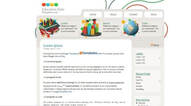 Education Style Blogger Template