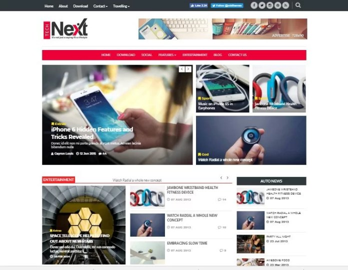 Technext Blogspot Template