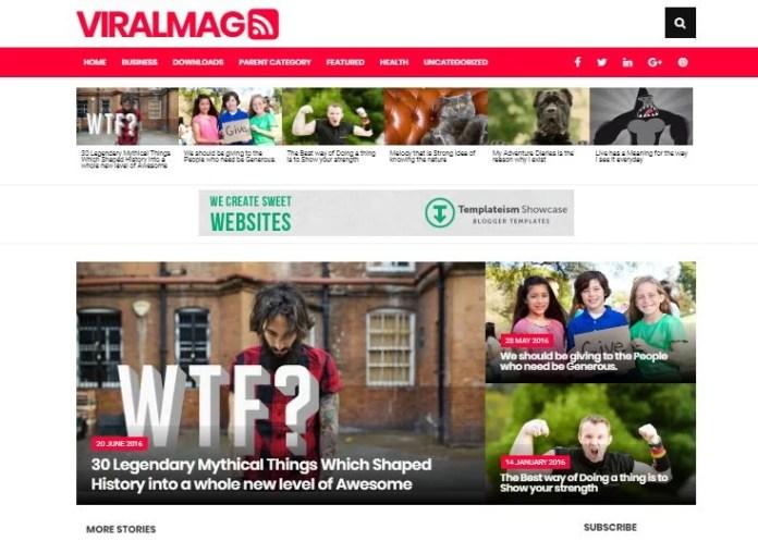 Viral Mag Blogger Template