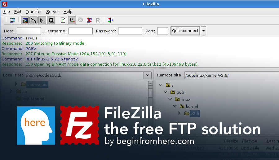 FileZilla, the free FTP solution | begin from here