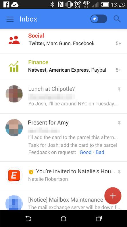 New Gmail interface 2015