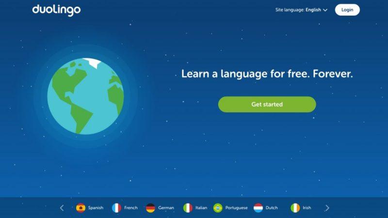 Duolingo interface