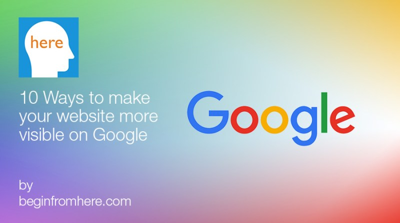 Your website more visible on Google