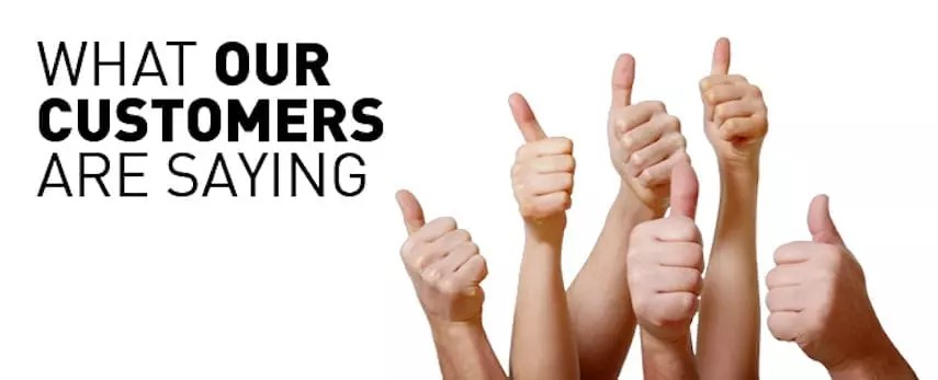 What are customers are saying thumbs up