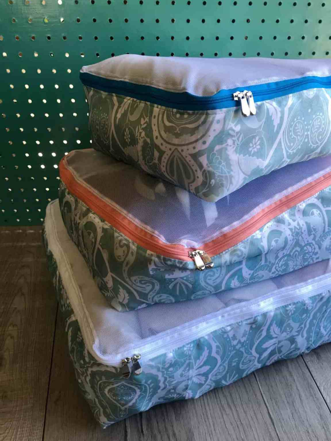 Sewing pattern: Packing cubes in 3 sizes