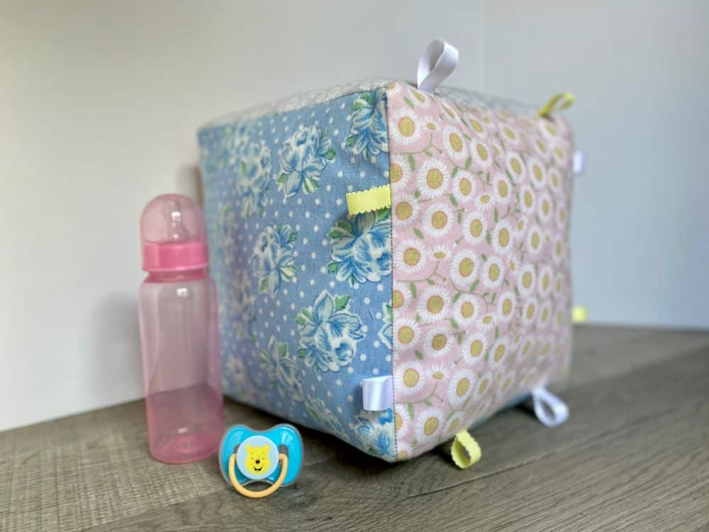Soft Fabric Baby Block Rattle Toy - DIY Sewing Tutorial