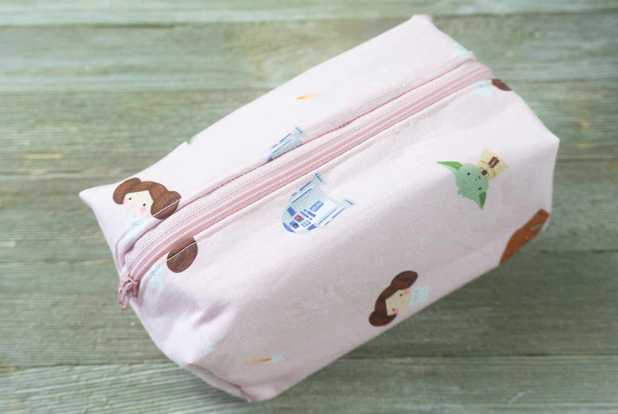 Boxy Travel Cosmetic Bag - Easy Sewing Tutorial