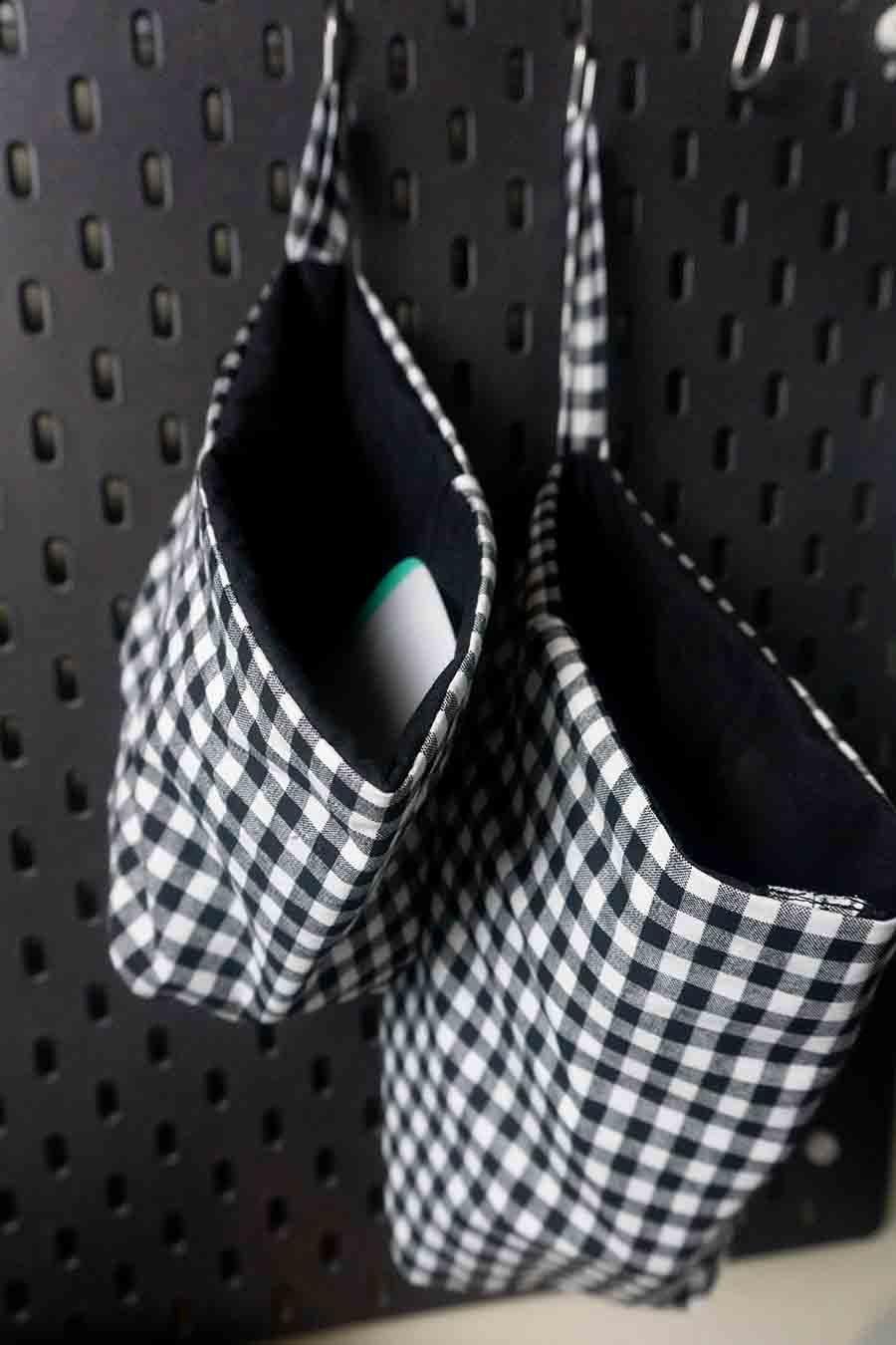 DIY Hanging Storage Baskets Easy Sewing Tutorial