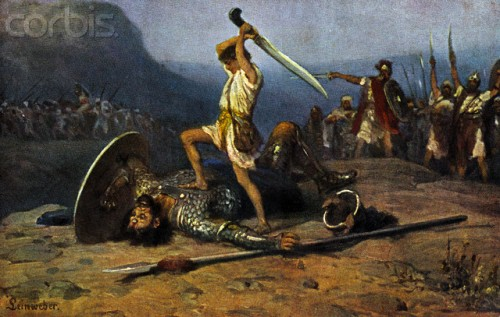 David and Goliath. | Foreshadows in Bible Prophecy
