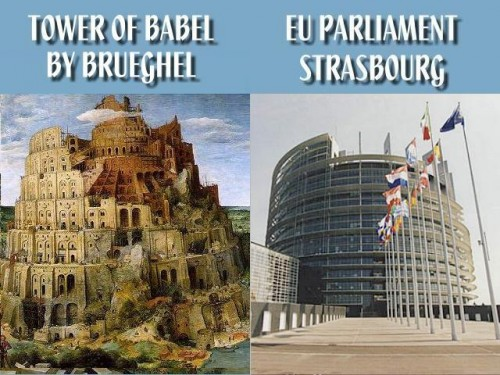 Tower of Babel EU Parliament Building | Illuminati New World Order