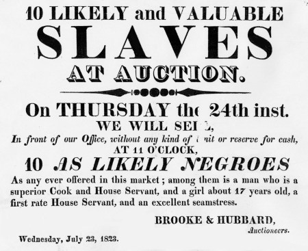 Slave Auction Poster | Does the Bible condone slavery.