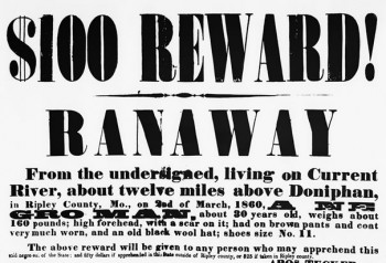 Runaway Slave Reward Poster | Does the Bible Condone slavery?