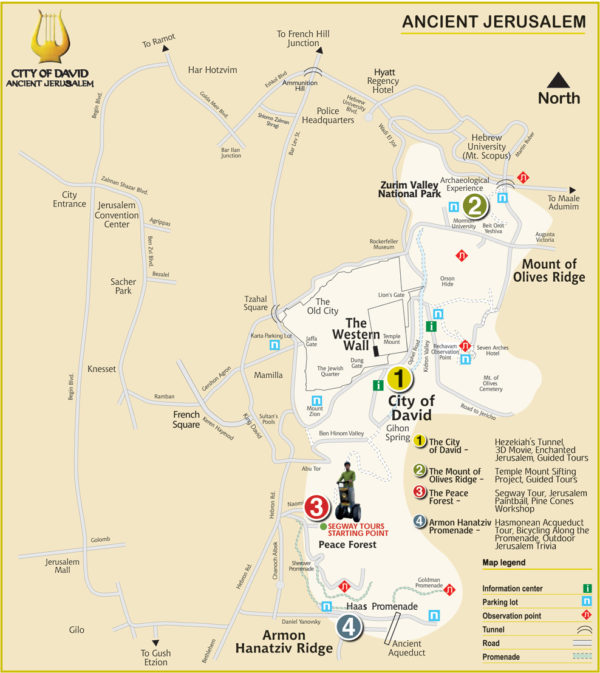 City of David Org map | Temple Location in City of David Ophel Gihon ...