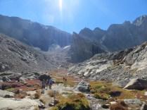 Looking back to Long's Peak