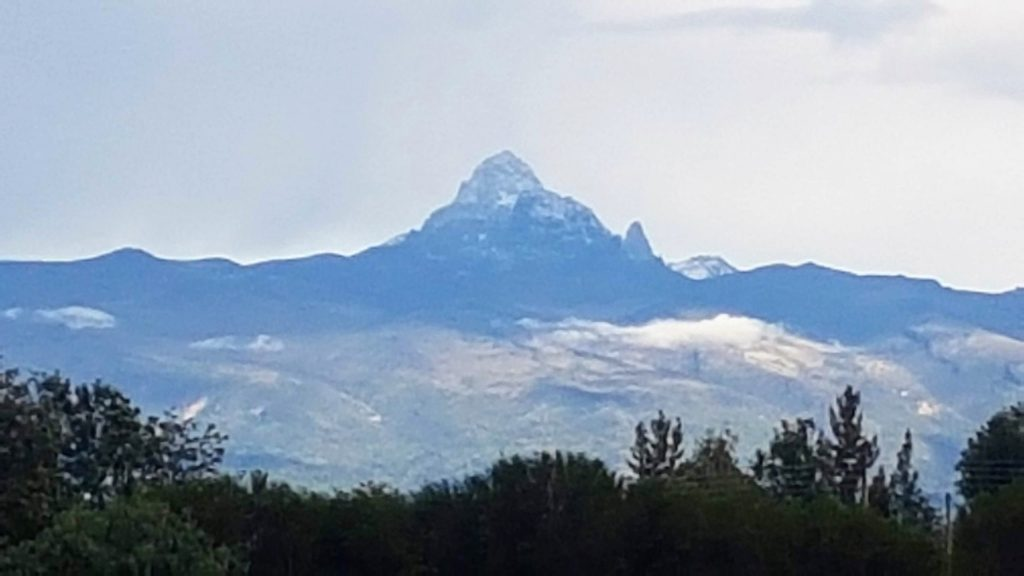 Mount Kenya view from North West