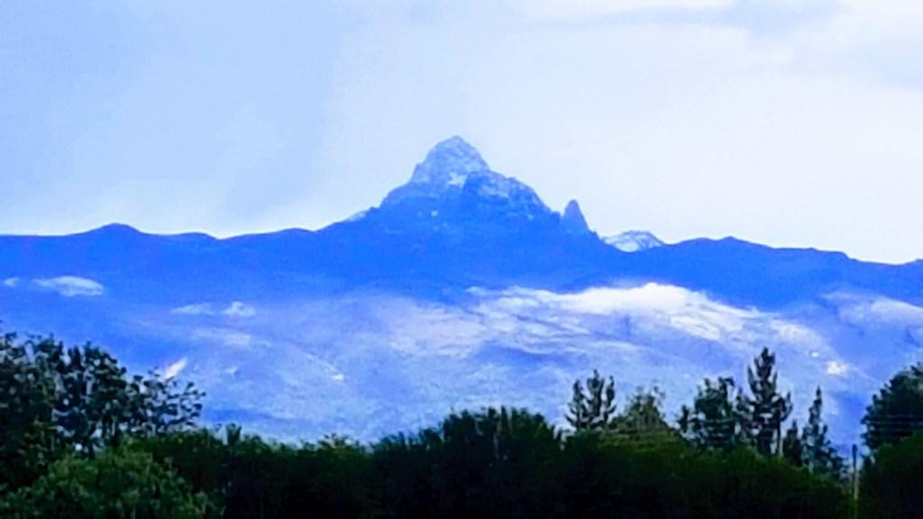 Snow Capped Mount Kenya