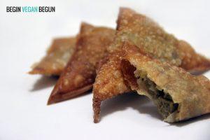 receta de samosa de seitán vegana
