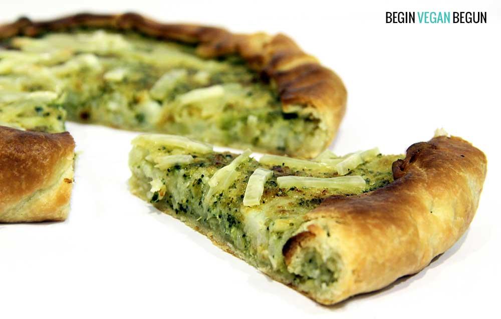 Quiche vegana de brócoli y coliflor