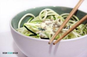 foto de espaguetis de calabacín