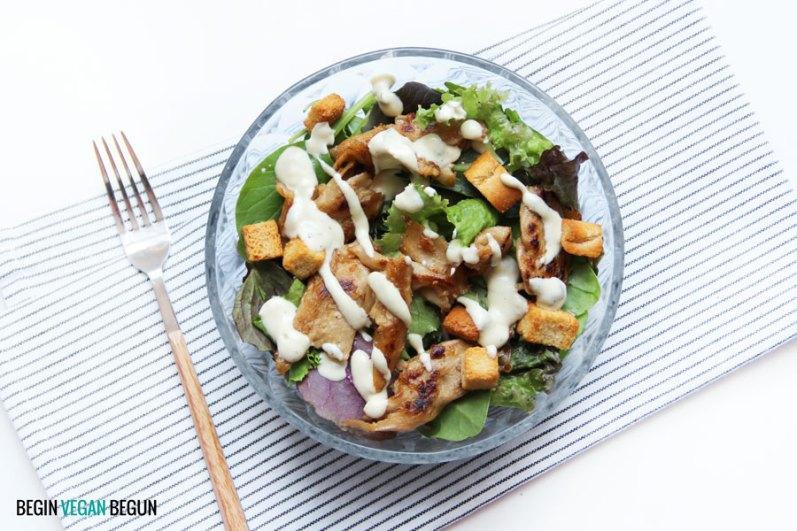 ensalada césar vegana