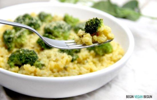Risotto de calabaza y brócoli