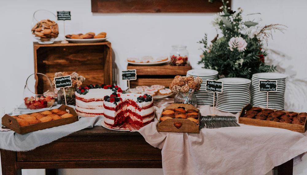 mesa dulce vegana boda