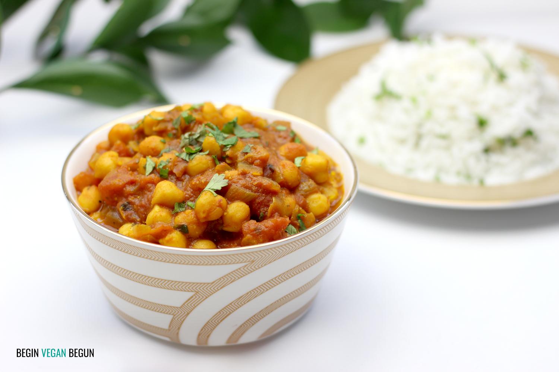 Chana masala (curry de garbanzos)