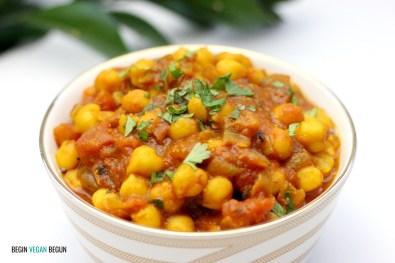 chana masala curry de garbanzos
