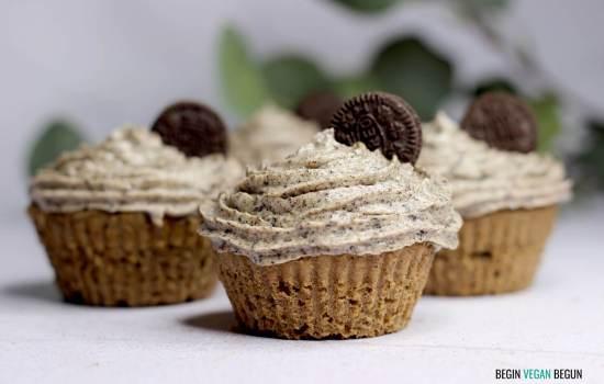 Cupcakes de oreo veganos
