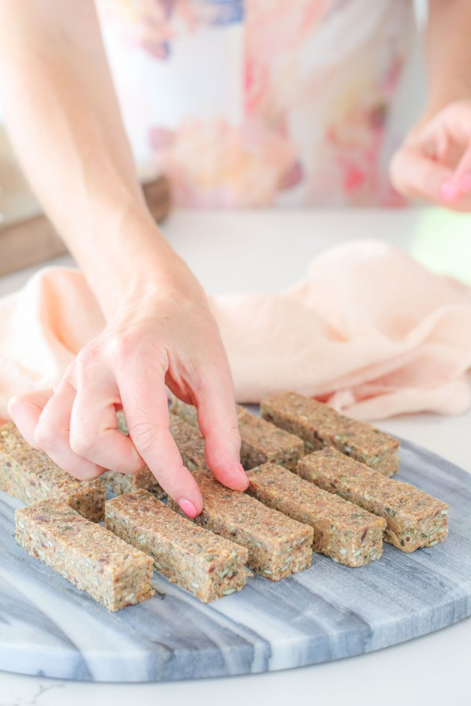 Super Seeded Snack Bars recipe by Buffy Ellen of Be Good Organics - refined sugar, dairy, gluten and nut free + vegan and paleo
