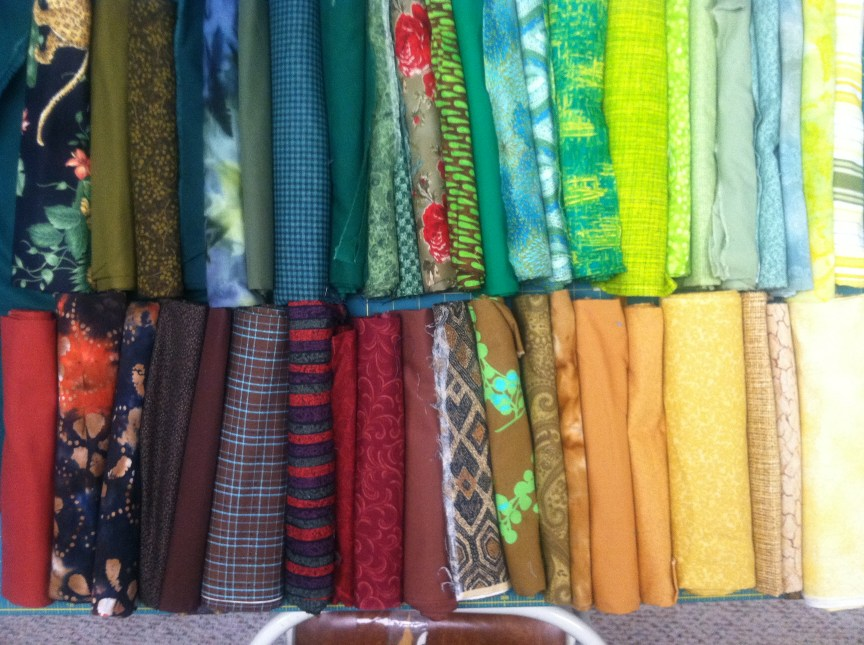 Cotton fabrics pulled from my stash