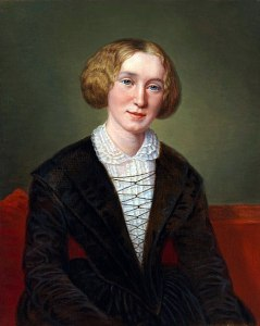 a painted portrait of George Eliot