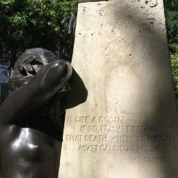 A woman cries for Arthur Sullivan