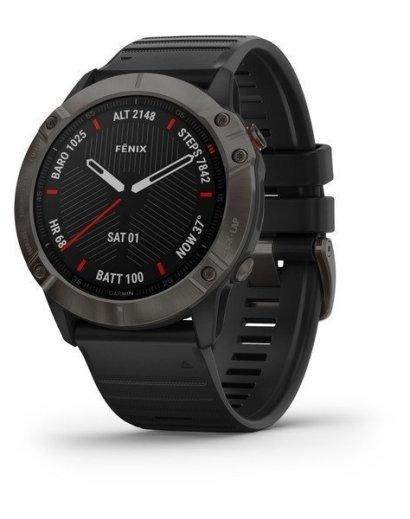 Bėgimo laikrodis Garmin Fenix 6X Sapphire Carbon Gray DLC