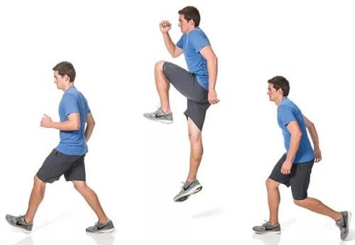 подскоки с ноги на ногу