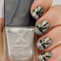 New Year's Eve nail art with Formula X Explosive + Moon Walk