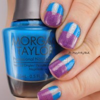 Pick Three Polishes: Poetry Cowgirl Snowfall, Pahlish Test Batch Highgarden, Morgan Taylor West Coast Cool nail art