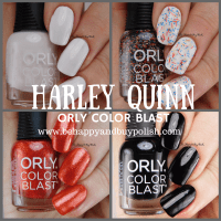 Harley Quinn Orly Color Blast nail polish set swatches + review