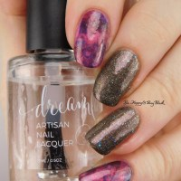 Smoosh Nail Art manicure with Vapid Lacquer Round 'N' Round, Girly Bits Cosmetics Terra